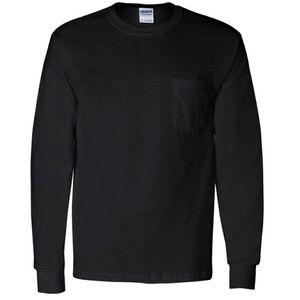 Gildan Long Sleeve Tee Size Medium Black
